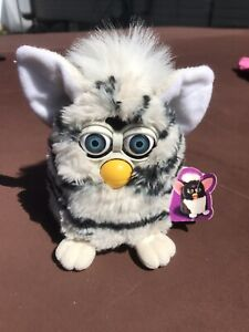 Vtg Furby Black & White Zebra 1998 Collectible Stuffed Plush With Tag