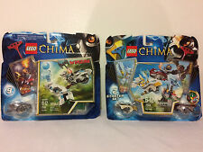 LEGO LEGENDS OF CHIMA LOT OF 2 SETS, WINZAR 70106 & SKY JOUST STARTER SET 70114
