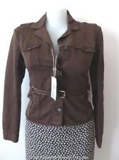 SEVENTY Brown Jacket with Leather Belt Size IT 46 AU 14 US 12  rrp $950.00