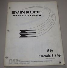 Parts Catalog Evinrude Sportwin 9,5 HP Ersatzteilkatalog ET Katalog Stand 1966!