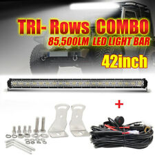 "42Inch 3600W Tri-Row LED Work light bar Spot Flood Combo Beam IP68 vs 40""+Wiring"