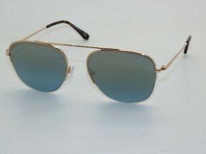 TOM FORD FT 0667/S 28X ABOTT Gold/Blue Authentic Sunglasses