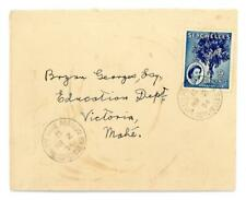 1954 Seychelles cover from Bay Ste Anne Praslin to Victoria Mahe