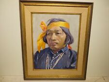 """16x20 original oil painting on board by Robert Atwood titled """"Jimmy the Hopi"""""""