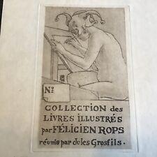 Ex-libris   Armand Rassenfosse dédicacé
