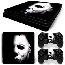 PS4 Slim Michael Myers Console & 2 Controllers Decal Vinyl Skin Wrap Sticker