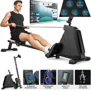 Rowing Machine Foldable 16-gear Resistance Cardio Workout Home Gym Training Pro
