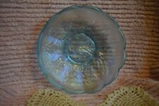 """Northwood Peacock Carnival Glass Ice Blue Iridescent Scalloped Bowl 5.5"""" Dia(#1)"""