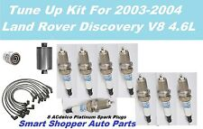2003-04 Land Rover Discovery Spark Plug Wire Set, Spark Plug, Oil Filter Tune Up