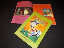 MON VOISIN TOTORO Hayao Miyazaki scenario dossier presse cinema Animation manga