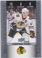 19/20 TIM HORTONS...JONATHAN TOEWS...GAME DAY ACTION...# HGD-8...BLACKHAWKS