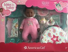 American Girl Bitty Baby Doll Starter Collection Set Dark Skin Brown Hair Eyes