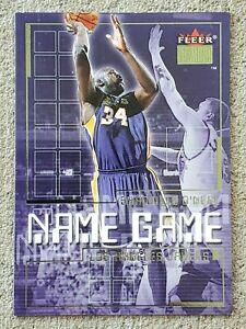 "SHAQUILLE O'NEAL 2000-01 Fleer Premium ""NAME GAME"" Basketball INSERT Card #3-NG"