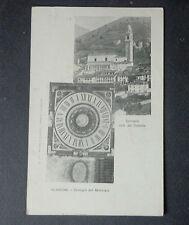 CARTOLINA BERGAMO CLUSONE CASTELLO OROLOGIO VIAGGIATA  DEL 1899 SUBALPINA AAA