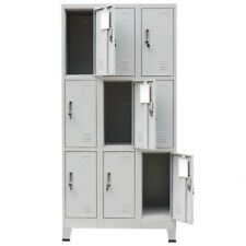 Sports Locker Storage Cabinet Office School Belongings Keeping With9 Compartments