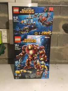 LOT LEGO SUPER HEROES MARVEL ET DC COMIC 76027 / 76105 NEUF SCELLE