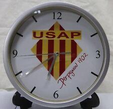 Pendule murale horloge 20cms RUGBY PRO D2 USAP PERPIGNAN CATALAN HARLEQUINS