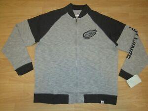 Detroit Red Wings Majestic Grey Ghost Full Zip Jacket Men's Large