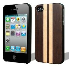 iPhone 4S/4 Handcrafted Real Milletia Laurentii Wood Case Superior Grip