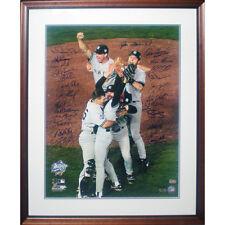 1998 Yankees Team Signed Photo Framed LE 11/24 Jeter Rivera Pettitte Steiner