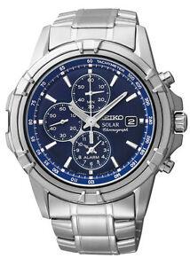 Seiko SSC141 SSC141P1 Mens Solar Alarm Chronograph Watch WR100m NEW RRP $699.00