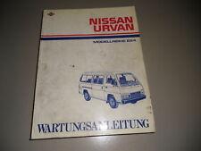 Werkstatthandbuch Nissan Urvan E24 Stand März 1987