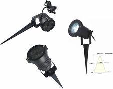 Faretto LED da interno e esterno.Casa,giardino.Picchetto faro.Luce bianca 4W led