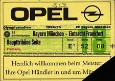 Ticket BL 94/95 FC Bayern München - Eintracht Frankfurt