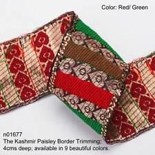 Neotrims Sari Paisley Ribbon Vintage Cooper Gold Metallic 4cm, Home Décor Craft