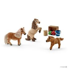 *NEW* SCHLEICH 41432 Miniature Shetland Pony Family & Accessories - Horse