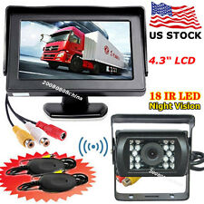 "Bus Truck Trailer IR Reversing Camera +Wireless 4.3"" Color TFT LCD Car Monitor"