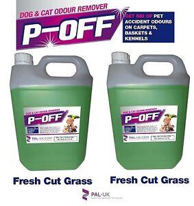 2x5L POFF Fragranced Kennel/Cattery Disinfectant Cleaner Deodoriser  Fresh Grass