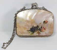 VINTAGE MINIATURE MOTHER OF PEARL CASED COIN STAMP PURSE