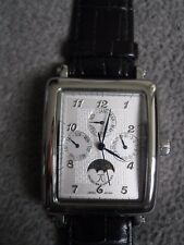 Jacques Cantani Herren Armbanduhr eckig Armband mit Batterie Chronograph Etui