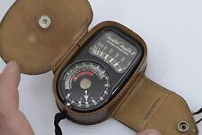 WESTON MASTER II MODEL 735 INCIDENT LIGHT METER WITH FITTED LEATHER CASE