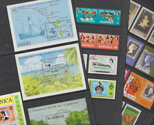 Dominica 1968-92 Used FU Full Set Minisheets Butterflies Hill Sport Conservation