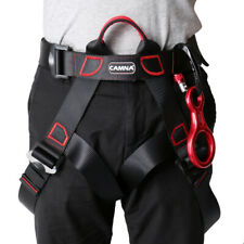 Rock Climbing Sit Harness + 35Kn Figure 8 Belay Device + 25Kn Carabiner
