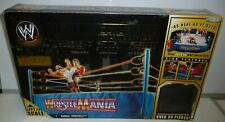 WWE WWF WRESTLEMANIA 1 OFFICIAL  SCALE RING 2005 JAKKS PACIFIC ORIGINAL BOX SET