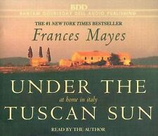 Under the Tuscan Sun : At Home in Italy by Frances Mayes (2005 CD, Abridged) New