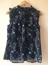 Portmans Floral Blouse Top Size 10 EUC RRP $69.95