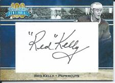 2016-17 President's Choice Centennial Blue & White RED KELLY Papercuts Auto