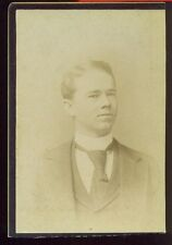 Handsome Young Man Large Tie Vintage Picture Photo Photograph Nashville Tenn