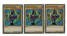 YuGiOh 3UDS. más oscuro Magier dpbc-de008, SUPER RARO, playset