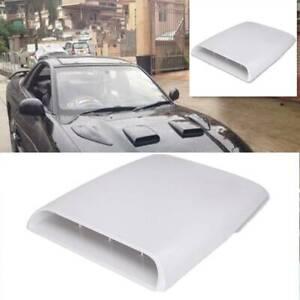 Universal KFZ Motorhaube Lufthutze Lufteinlass Dachhutze Luftstromt Weiß