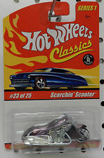 MOTORCYCLE BITCHIN BIKE SCORCHIN SCOOTER # 23 SERIES 1 CLASSICS HW HOT WHEELS