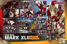 HOT TOYS Iron Man 3 Mark XLII MK 42 1/4 FIGURE Deluxe Version
