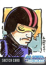 Dr Doctor Who Big Screen Additions Sketch Card by Amy Provonost of a Roboman