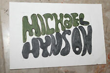 Vintage Surfing Mike Hynson 5x7in. Hand-Drawn Logo Prototype - Endless Summer