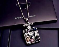 Women's Fashion Pendant Necklace Beautiful Elegant Korean Style-Perfume Charm