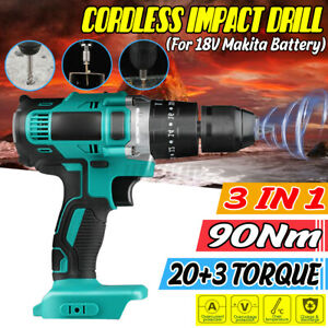 3-in-1 Electric Cordless Impact Wrench Torque Drill 13mm Rechargeable Drill
